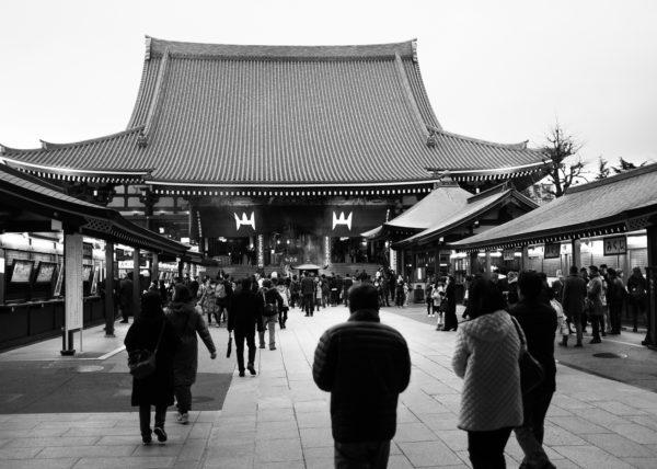 Temple d'Asakusa à Tokyo, Japon.