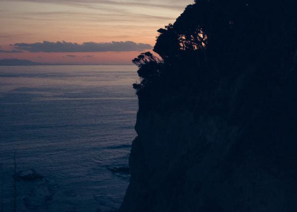 Coucher de soleil depuis l'île d'Enoshima