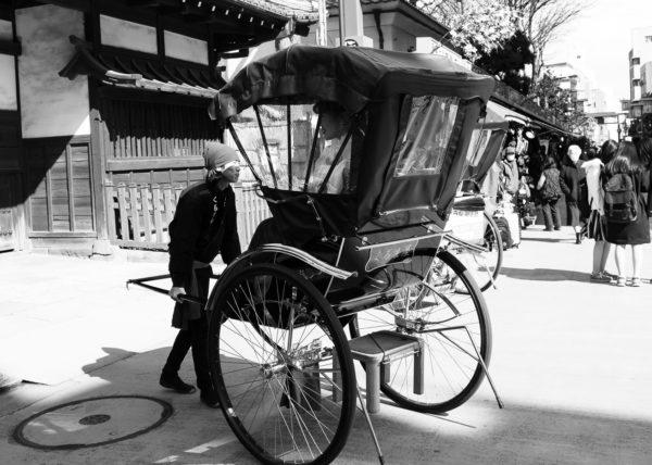 Les rues d'Asakusa et ses nombreux touristes