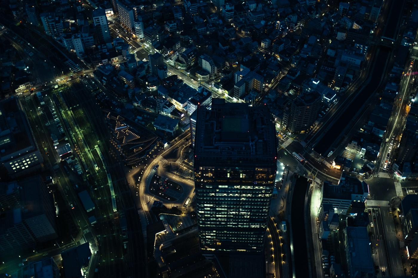 Vertige depuis le Tokyo Skytree. Les bâtiments les plus hauts se font ridiculement petits